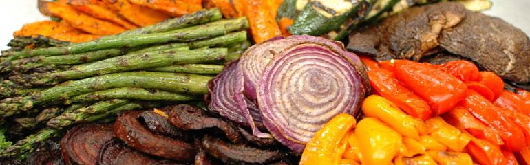 Grilled & Roasted Vegetable Display