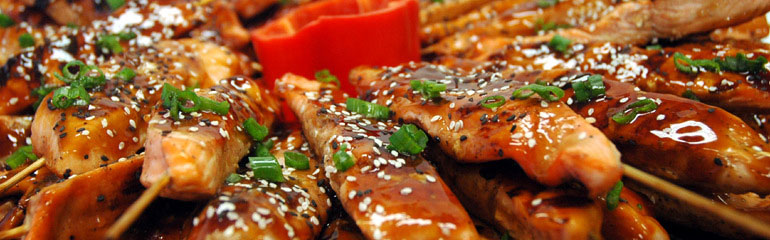 Grilled Teriyaki Chicken Skewer