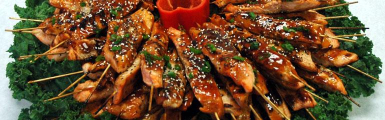 Grilled Teriyaki Salmon Skewers