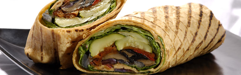 Grilled Garden Veggie Wrap